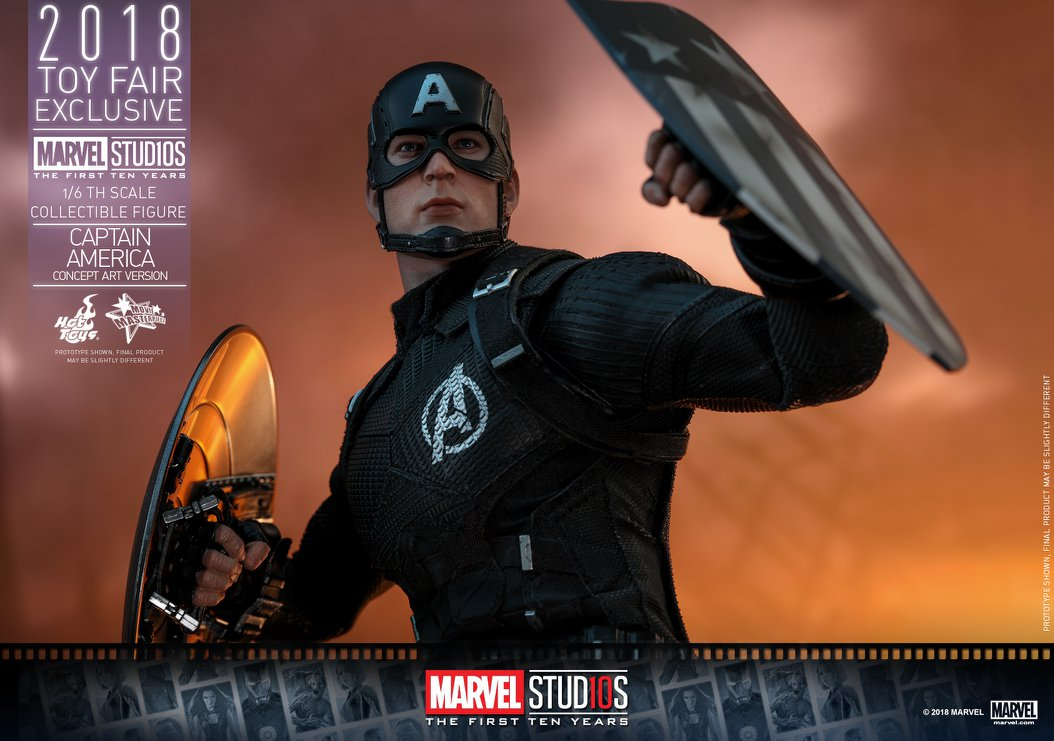Hot Toys Captain America is back in black - Critical Hit