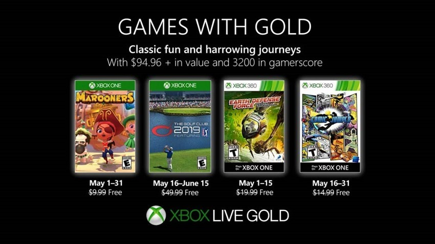 Xbox Live's Games with Gold for May include Golf, pirate