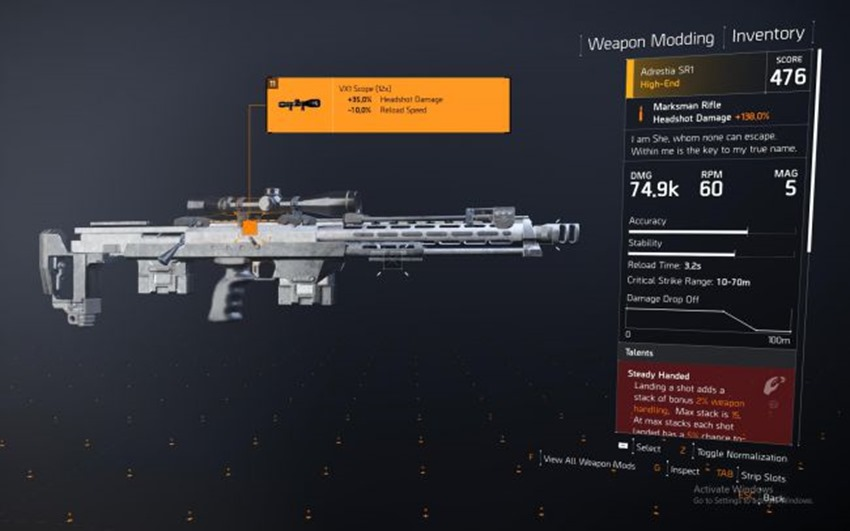 How to get the Nemesis Sniper Rifle in The Division 2