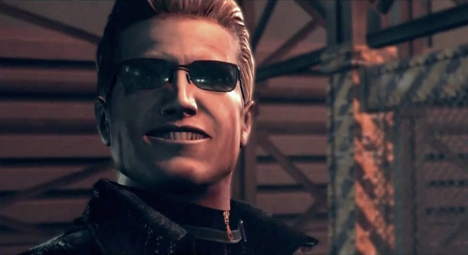 wesker_s_smile_by_chrisredfieldre-d5lh4dn