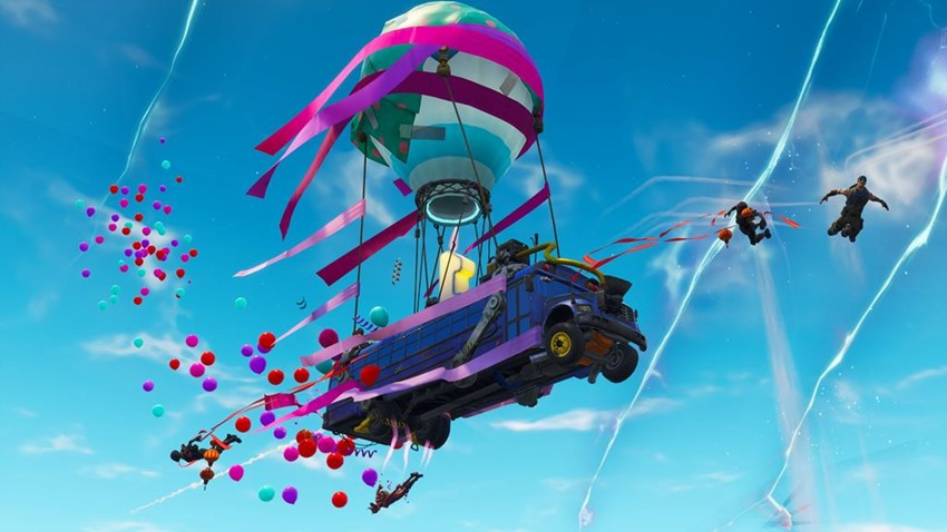 fortnite party bus