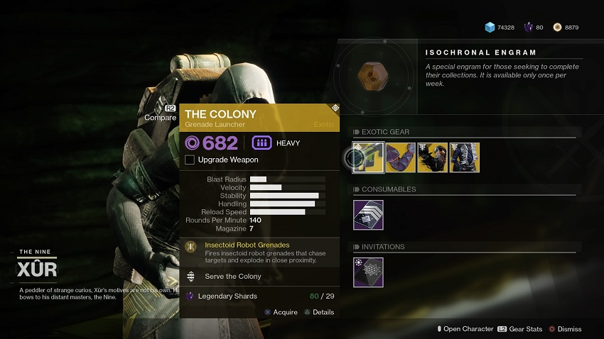 Destiny 2: Where is Xur (and whats he got for sale?) – August 09