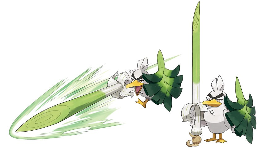 SirFetch'd is Farfetch'd but awesome , exclusive to Pokemon Sword
