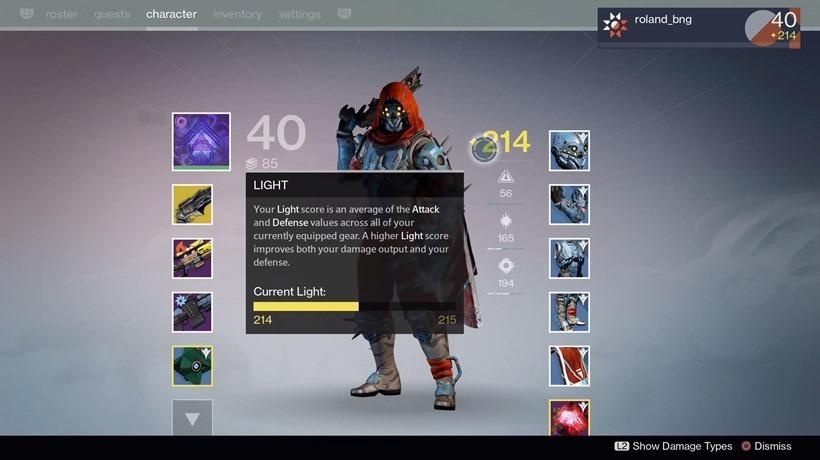 Destiny level