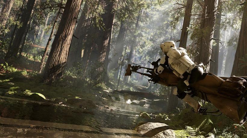 Star Wars Battlefront has speeder racing