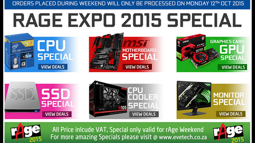 Upgrade with Evetech at rAge 2015!