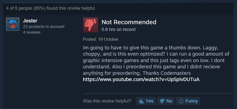 Overlord Steam reviews 5