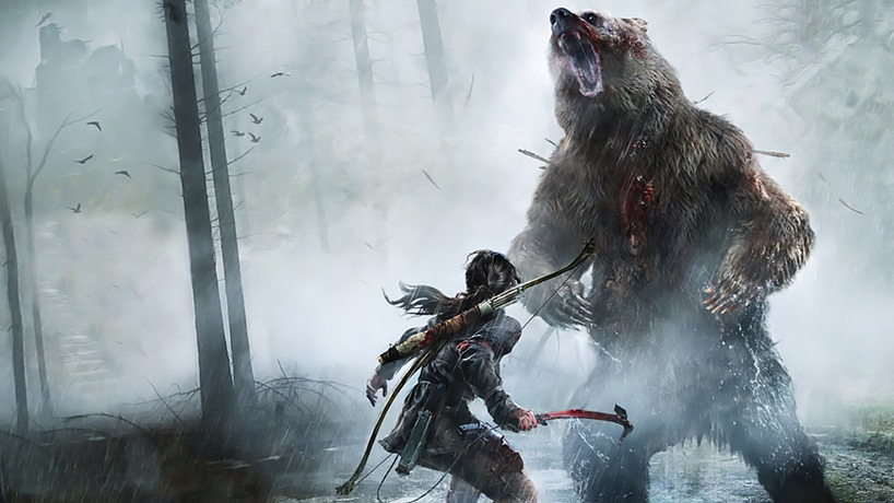 Bears aren't real fans of Lara Croft