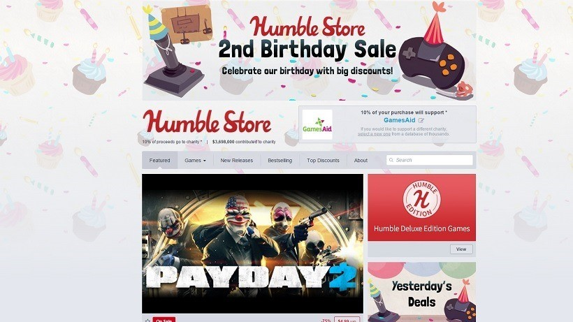 Humble Store birthday sale now on