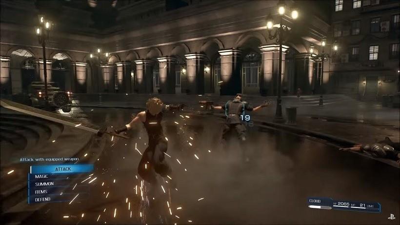 Final Fantasy Remake combat