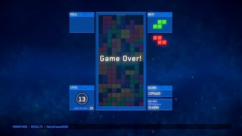 Tetris Ultimate Game Over