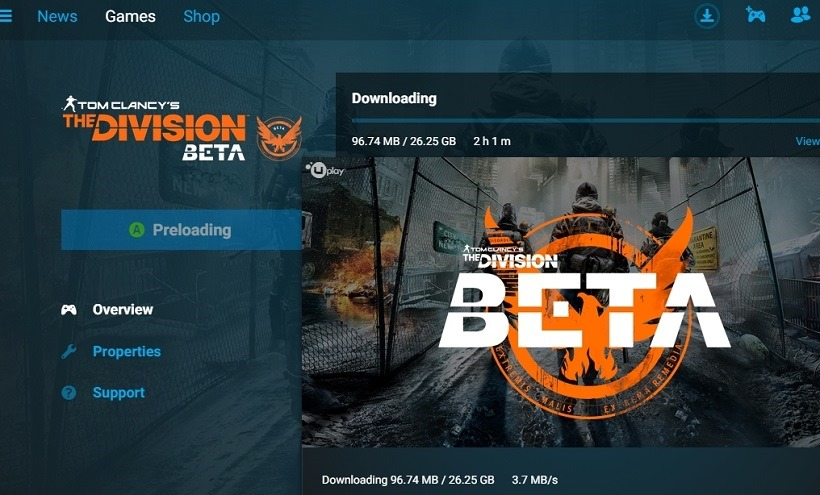 The Division file size
