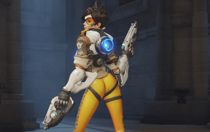 Tracer is getting her butt pose removed