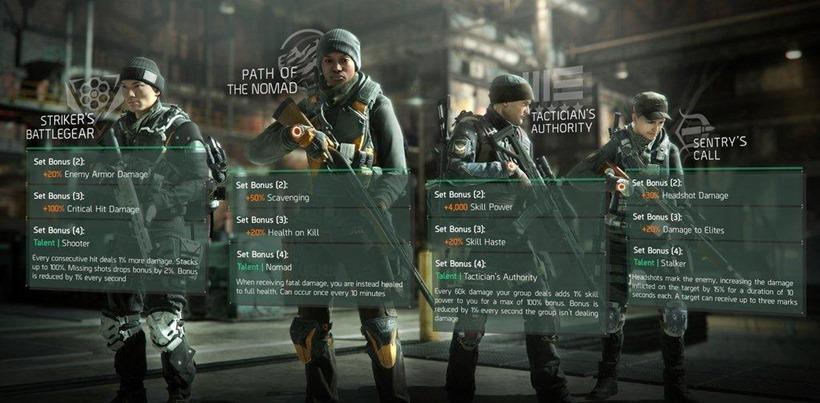Division gear sets