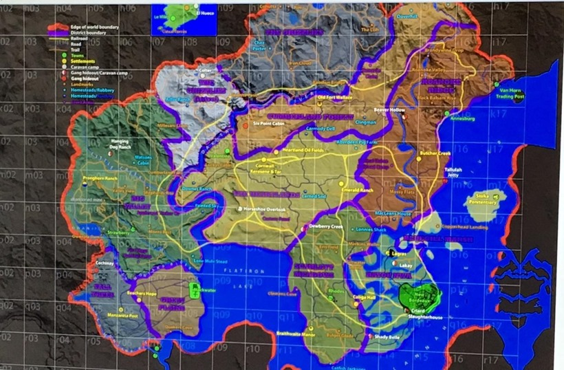 Red Dead 2 map
