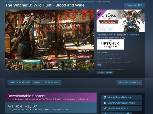 Blood and Wine release date leak