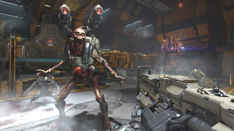 DOOM launch trailer channels classic shooting