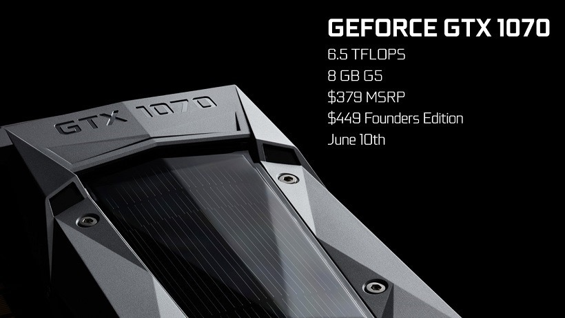 GTX 1070 specifications revealed