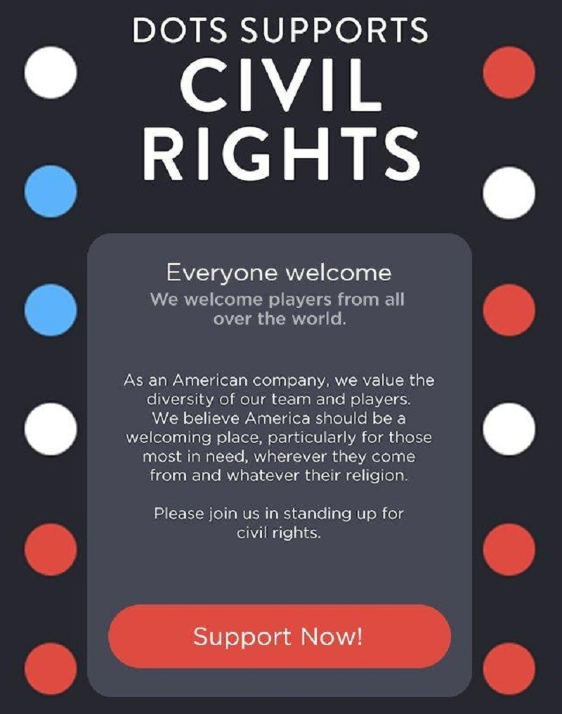 Play Dots supports the ACLU