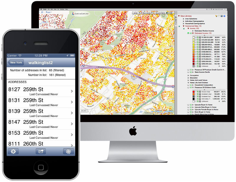 Big data canvassing app