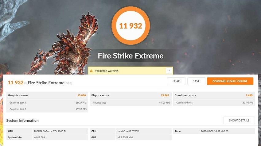 FireStrike Extreme GTX 1080 Ti