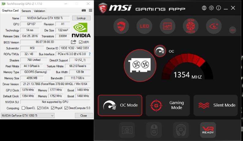 MSI GTX 1050 Ti Gaming X Review: Performance Paradox