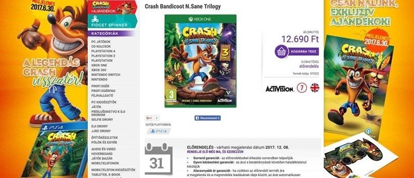Crash Bandicoot N.Sanity Trilogy on Xbox One