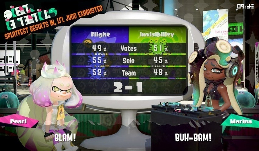 Invisibility loses to Flight in latest SplatFest