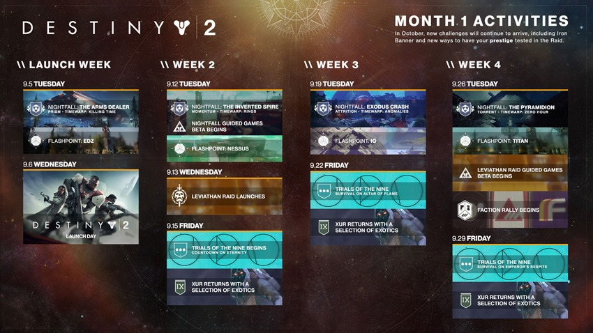 destiny 2 september schedule