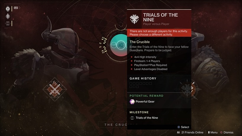 Trials of the Nine put on ice for two weeks 2