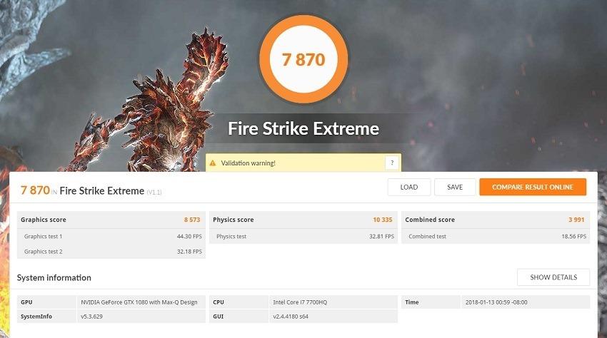 Asus Zephyrus FireStrike 1