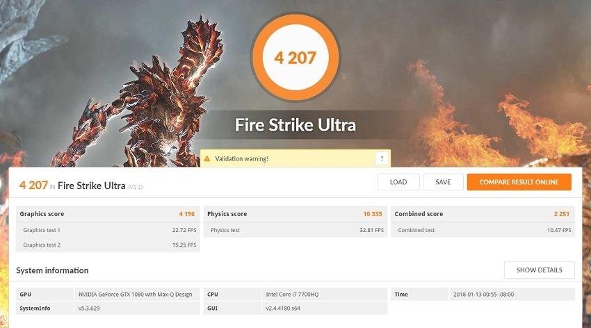 Asus Zephyrus FireStrike 4
