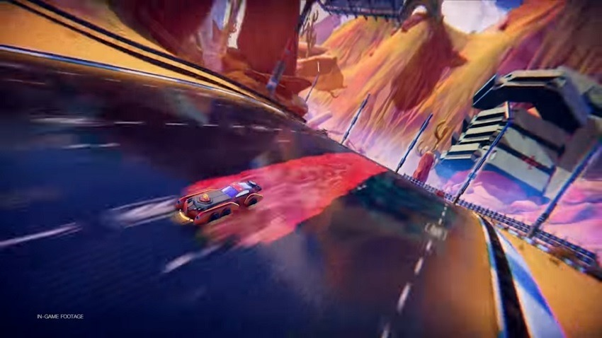 Trailblazers combines Splatoon's painting with Wipeouts speed