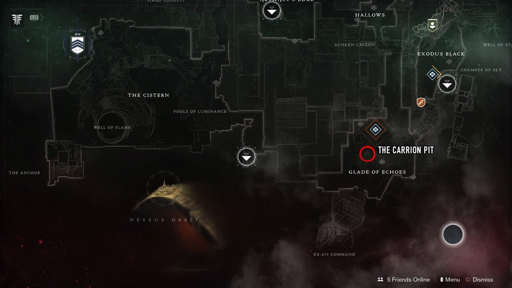 Where to easily find every bounty target and Lost Sector in