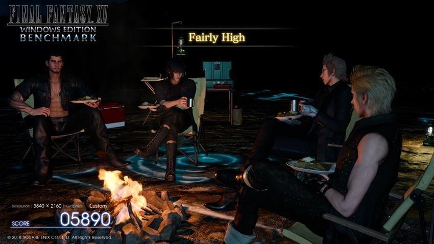 Final Fantasy DLSS Benchmark 7