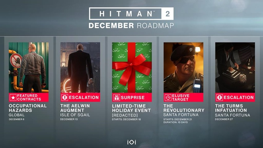 Hitman 2 - You can expect a new Elusive Target and more
