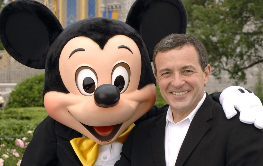 Disney CEO Bob Iger and some guy in a suit