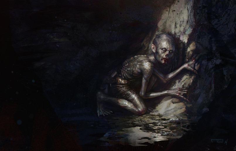 Gollum_s_journey_commences_by_Frederic_Bennett
