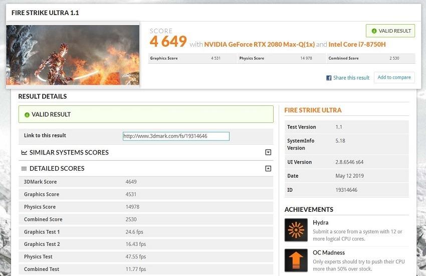 GX531 Fire Strike Ultra