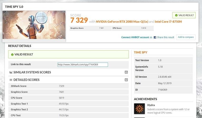 GX531 Time Spy Result