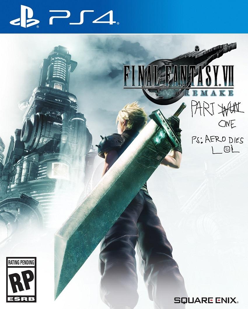 Final Fantasy VII Remake Boxart fixed