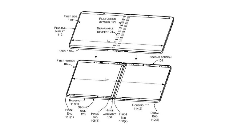 Microsoft patent reveals a possible foldable Surface device