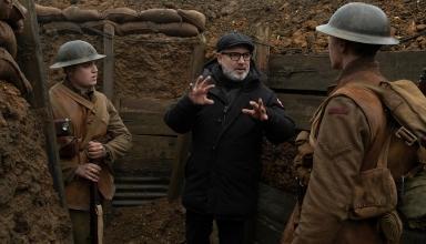 Director sam mendes speaks to cast behind the scenes
