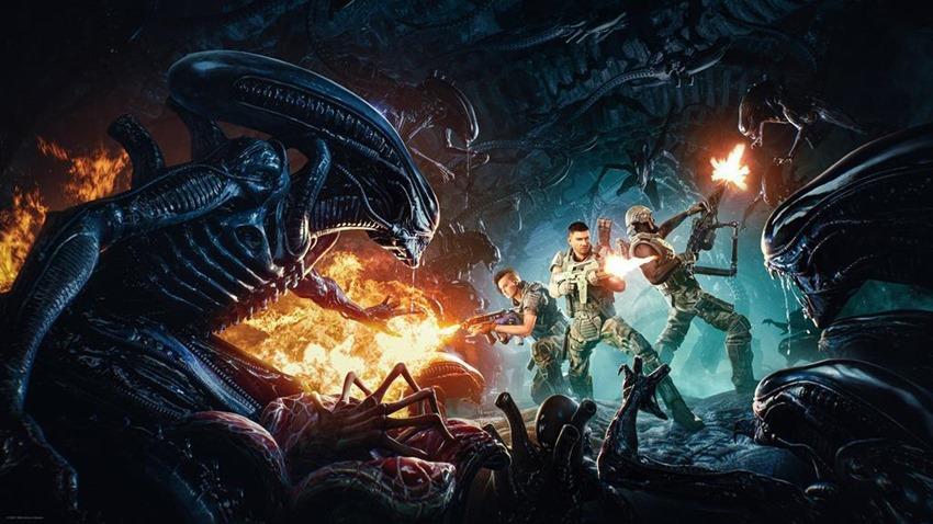Aliens Fireteam Key Art