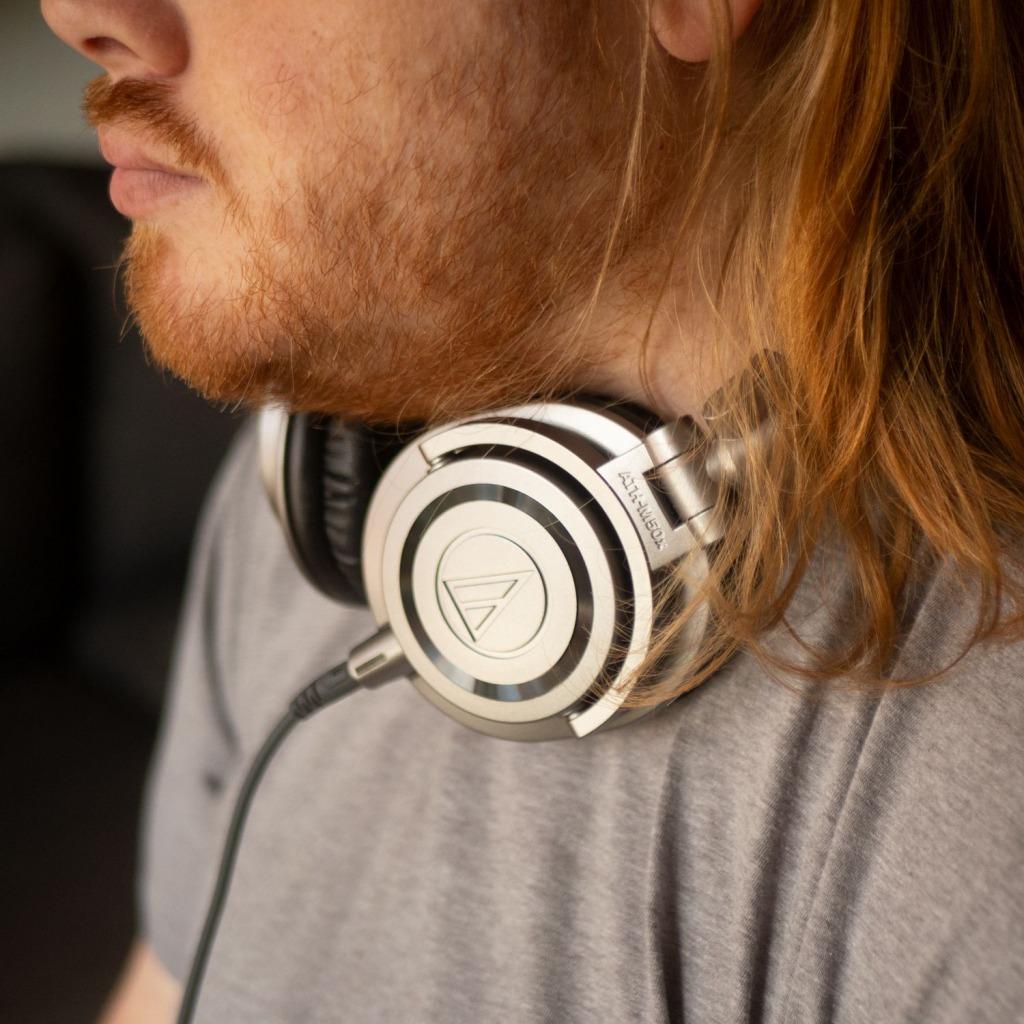 Audio-Technica ATH-M50x audiophile gaming headphones