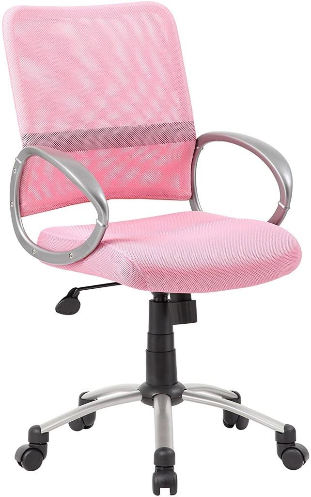 Boss pink ergonomic office chair
